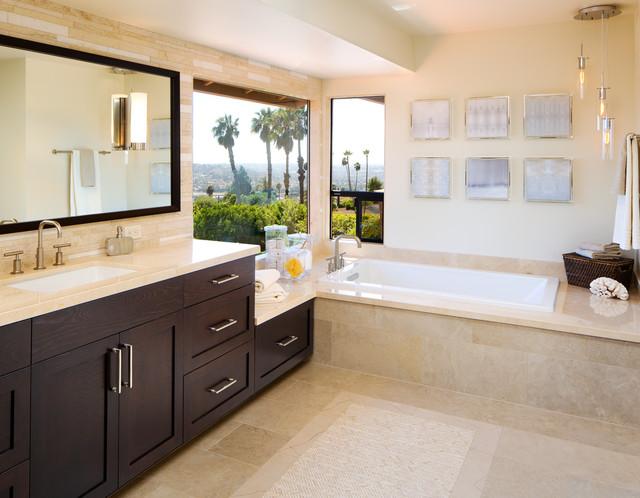 La mesa california ranch contemporary bathroom san for Ranch bathroom ideas