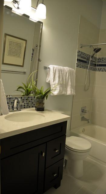 Contemporary Clean Laundry and Bathroom contemporary-bathroom