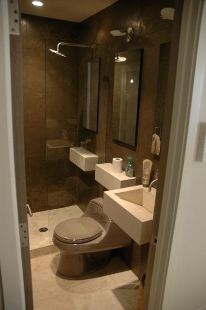 Contemporary condo bath modern bathroom chicago by for Bathroom theme ideas for small bathrooms