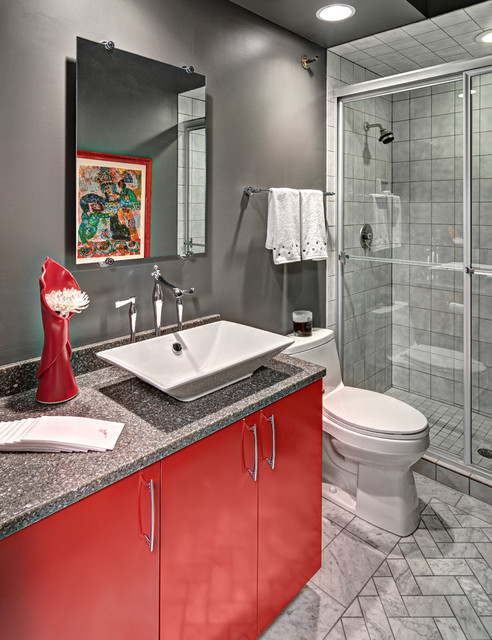 Contemporary Condo Contemporary Bathroom Minneapolis By Dreammaker Bath Kitchen