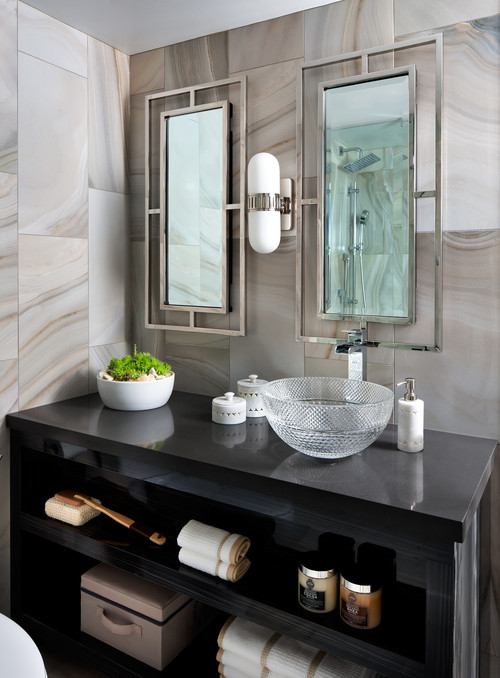 The right height for your bathroom sinks mirrors and more - Standard height of bathroom mirror ...