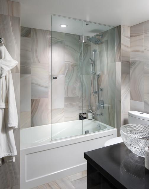Contemporary Condo Contemporary Bathroom