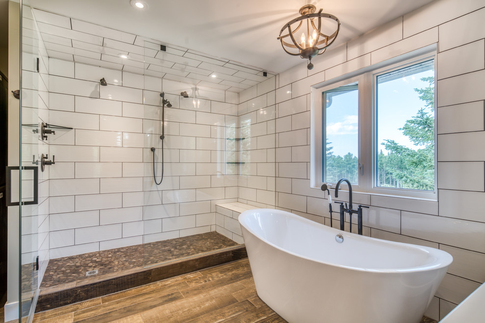 Contemporary Country Home Renovation Farmhouse Bathroom Calgary By District Homes