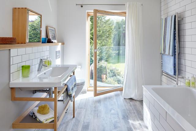 9 mobili sotto al lavandino che sono un inno alla leggerezza. Black Bedroom Furniture Sets. Home Design Ideas
