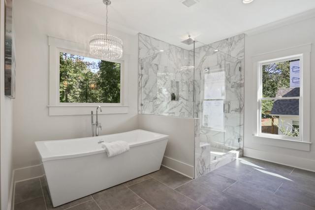 Bathroom - contemporary bathroom idea in Atlanta