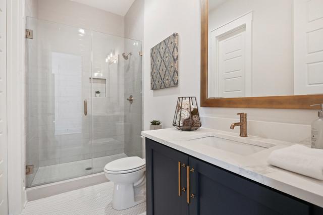 Trendy bathroom photo in Atlanta
