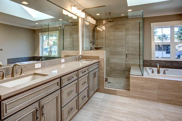 ContemporaryCraftsman Bellevue Master Bath Transitional