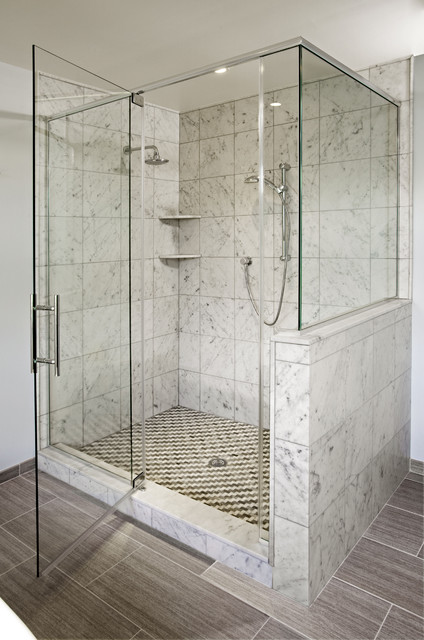Contemporary Eclectic Master Bath Remodel: Dresher, PA traditional-bathroom