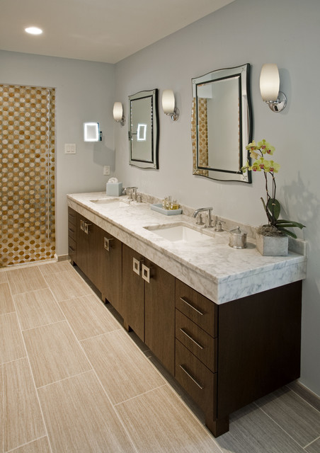 Contemporary Eclectic Master Bath Remodel: Dresher, PA modern-bathroom