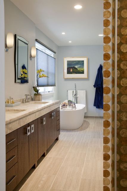 Contemporary Eclectic Master Bath Remodel Dresher Pa Eclectic Bathroom Philadelphia By