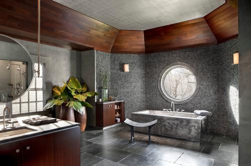 all-gray palette bathroom