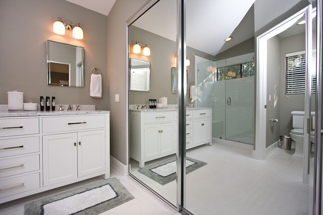 Contemporary Gray   White Bathroom Remodel contemporary bathroom. Contemporary Gray   White Bathroom Remodel   Contemporary