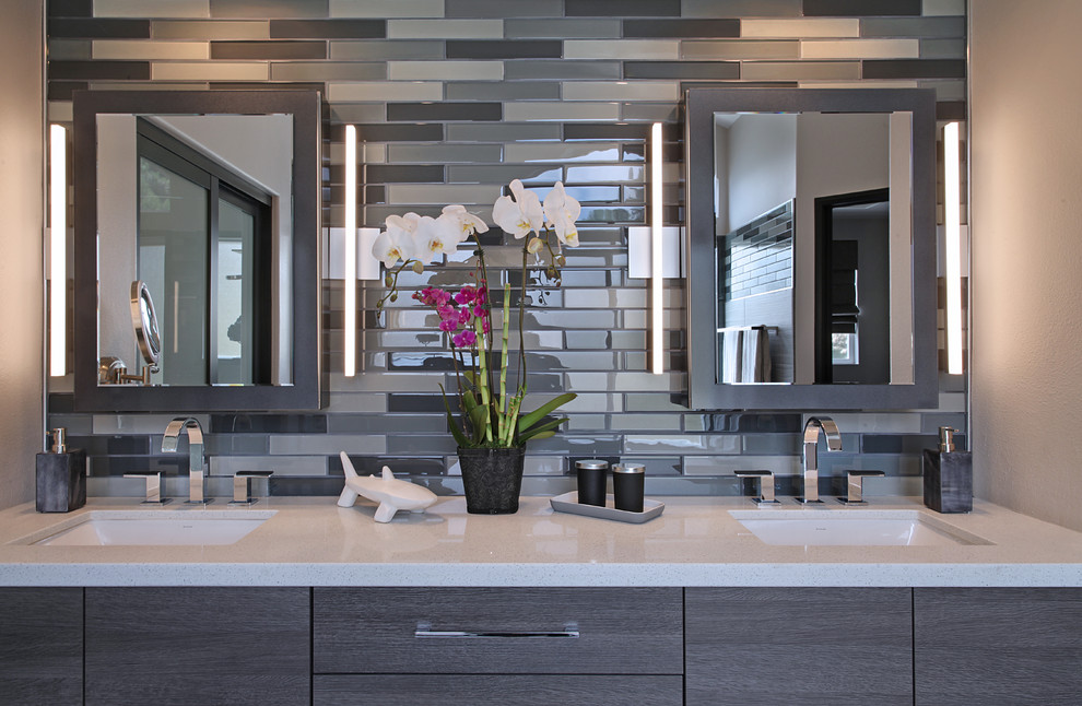 Contemporary gray vanity - San Clemente - Contemporary ...