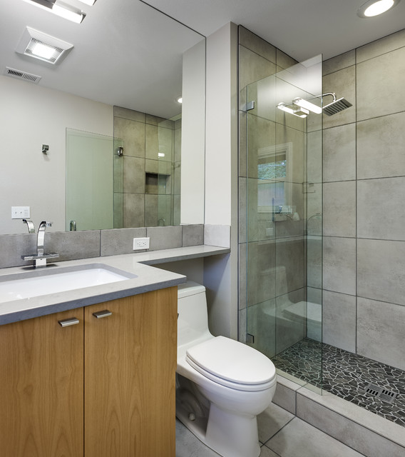 Contemporary guest bath contemporary bathroom portland by