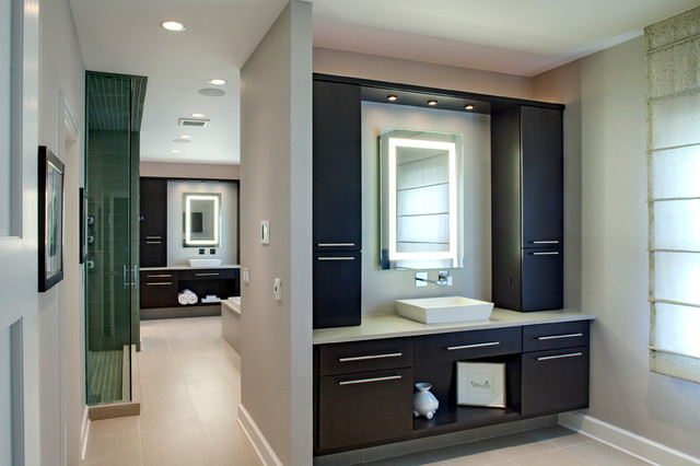 Contemporary His And Hers Master Bath Contemporary