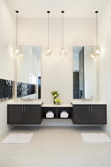 Contemporary laminate contemporary bathroom houston - Custom bathroom vanities houston ...