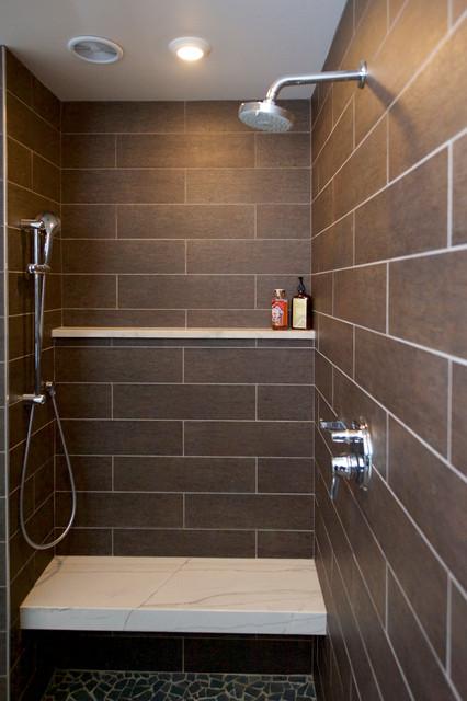 Contemporary limestone bath contemporary bathroom for Bathroom renovations campbelltown