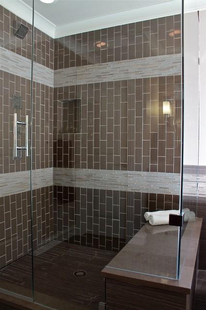 Contemporary Masculine Home Bathroom Dallas Traci Connell Interiors