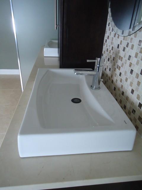 Contemporary Masculine Master Bath contemporary-bathroom