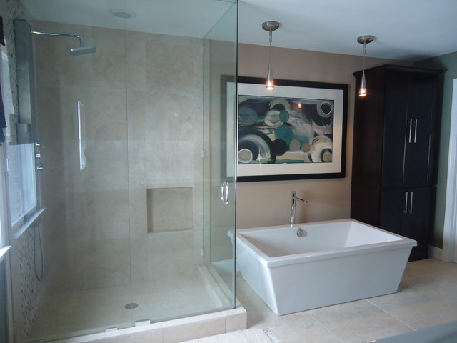 Contemporary Masculine Master Bath contemporary bathroom