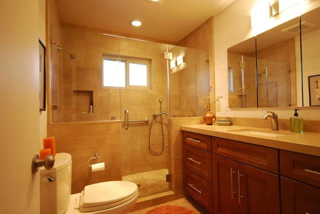Contemporary Master Bath Modern Bathroom