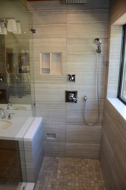 Contemporary Master Bath Remodel Plano Tx Contemporary Bathroom Dallas By Millwood