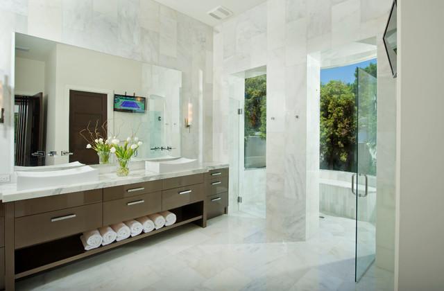 Contemporary Mediterranean Contemporary Bathroom Other Metro By Charles Clayton