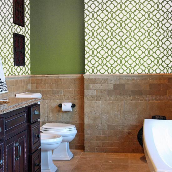 Contemporary moroccan bathroom contemporary bathroom other by stencil ease - Moroccon bathroom ...