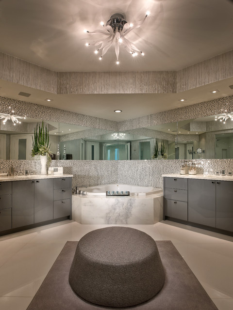 Contemporary Private Residence Palm Beach County Contemporary Bathroom Miami By