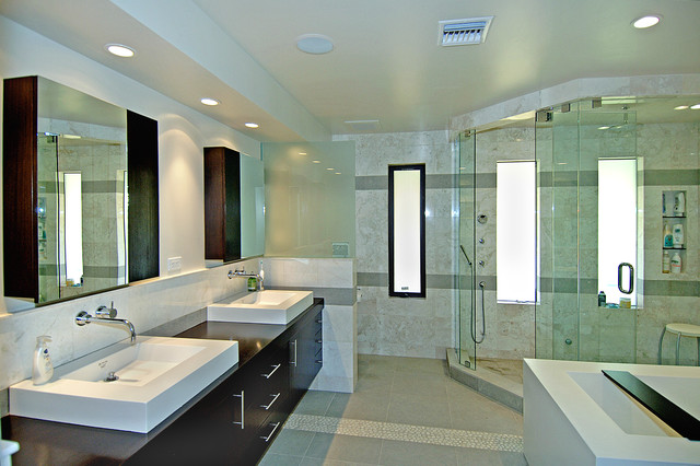 contemporary bathroom by CW Design Company