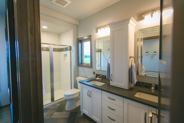 Contemporary Rustic Home Rustic Bathroom Other