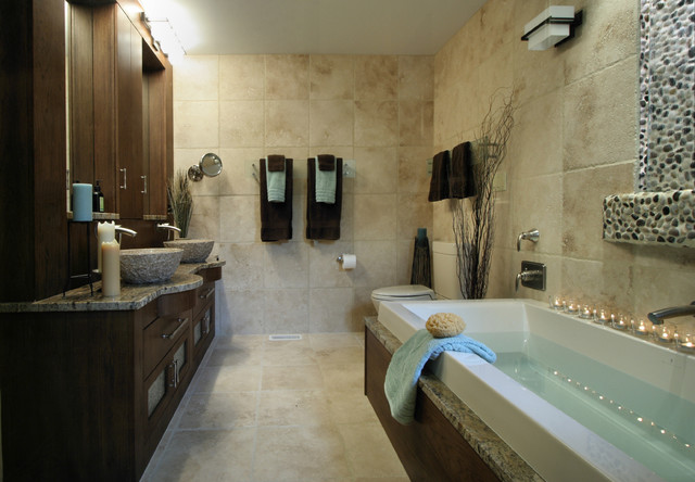 Contemporary rustic Bathroom design ideas houzz