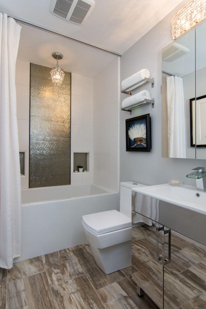 Contemporary Santa Clarita Guest Bathroom - Contemporary ...
