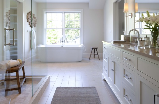 Contemporary Shingle Style contemporary-bathroom