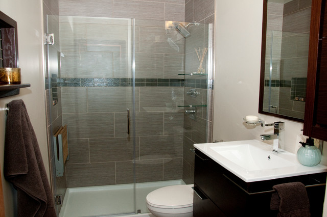 Contemporary Small Bathroom Renovation - Contemporary - Bathroom - Other - by Bling & Bang