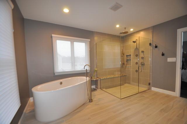 Contemporary Master modern-bathroom