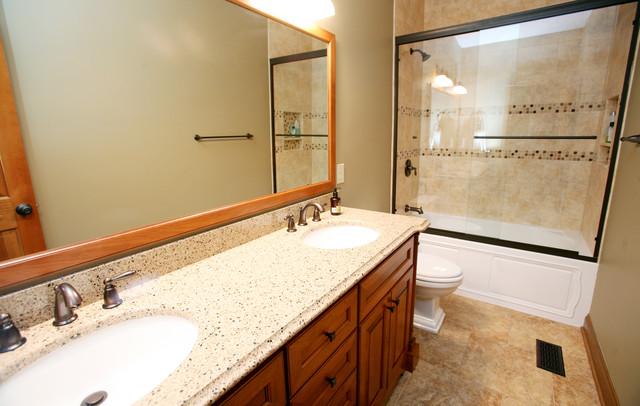 Continental Drive Hall Bath traditional-bathroom