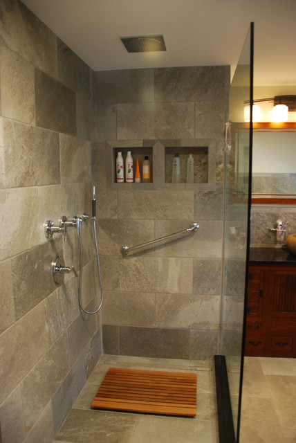 Convert two bathrooms into Zen bathrooms - Asian - Bathroom - providence