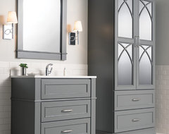 Cool and Calming Chapel Hill Bathroom transitional-bathroom