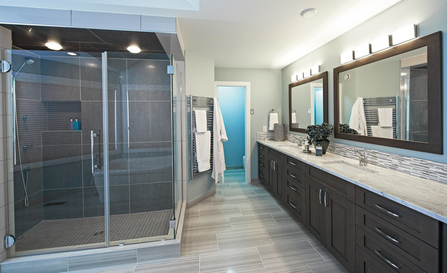 Cool blue ensuite contemporary bathroom other metro by centennial 360