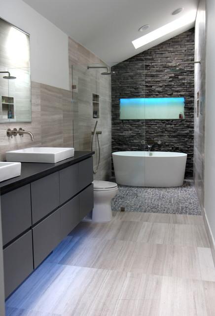 Cool Gray - Contemporary - Bathroom - atlanta - by Change ...