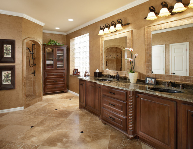 Coppell bathroom remodel for Traditional master bathroom design ideas