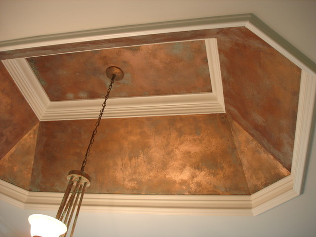 Copper ceiling rustic bathroom nashville by for Best paint finish for bathroom ceiling