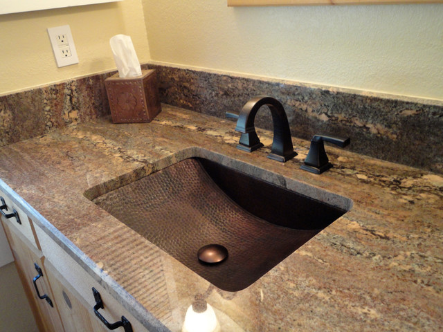 Copper Sink Installations Traditional