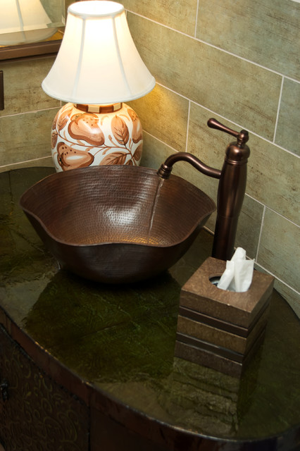 COPPER SINK INSTALLATIONS traditional-bathroom