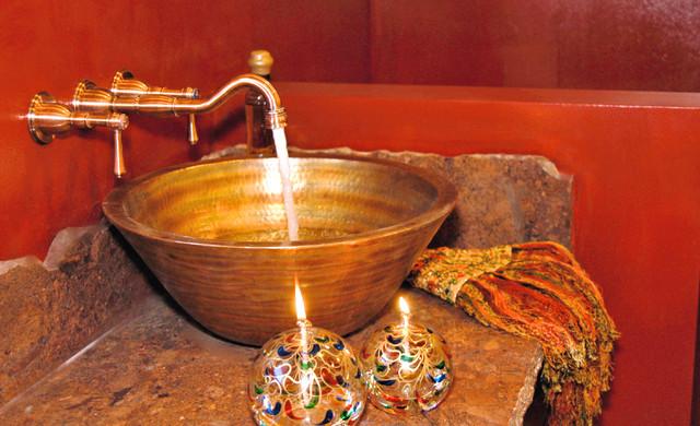 COPPER SINK INSTALLATIONS traditional-bathroom