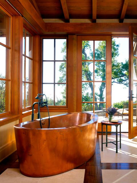 Copper Soaking Tub Contemporary Bathroom San Francisco By Diamond Spas