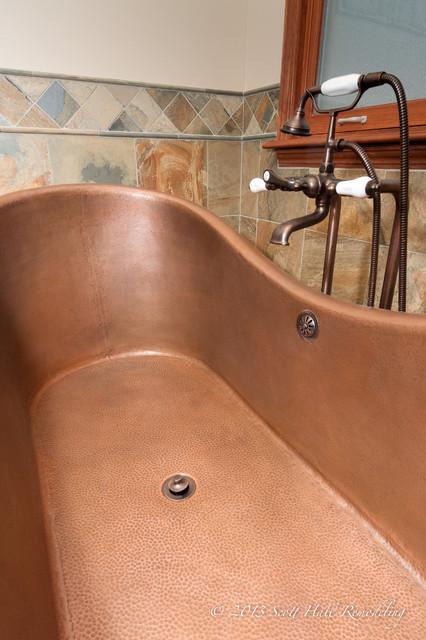 Copper Soaking Tub Master Bath traditional-bathroom