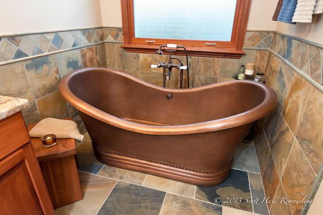 Copper Soaking Tub Master Bath Traditional Bathroom Columbus By Scott Hall Remodeling