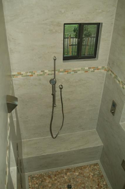 Corian® Sagebrush Shower - Contemporary - Bathroom - San Francisco ...